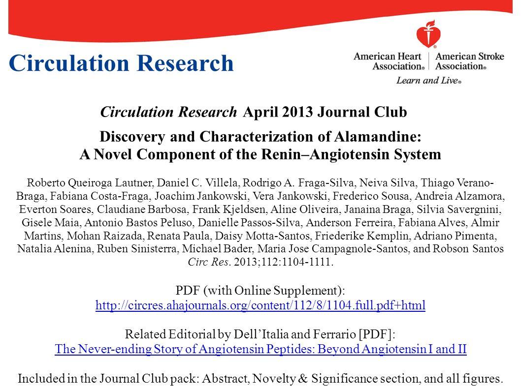 Circulation Research April 2013 Journal Club