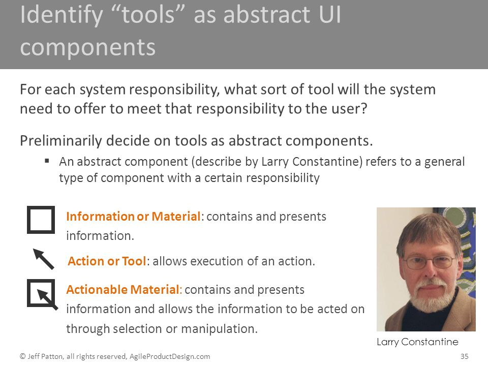 Identify tools as abstract UI components