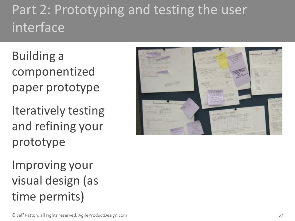 Part 2: Prototyping and testing the user interface