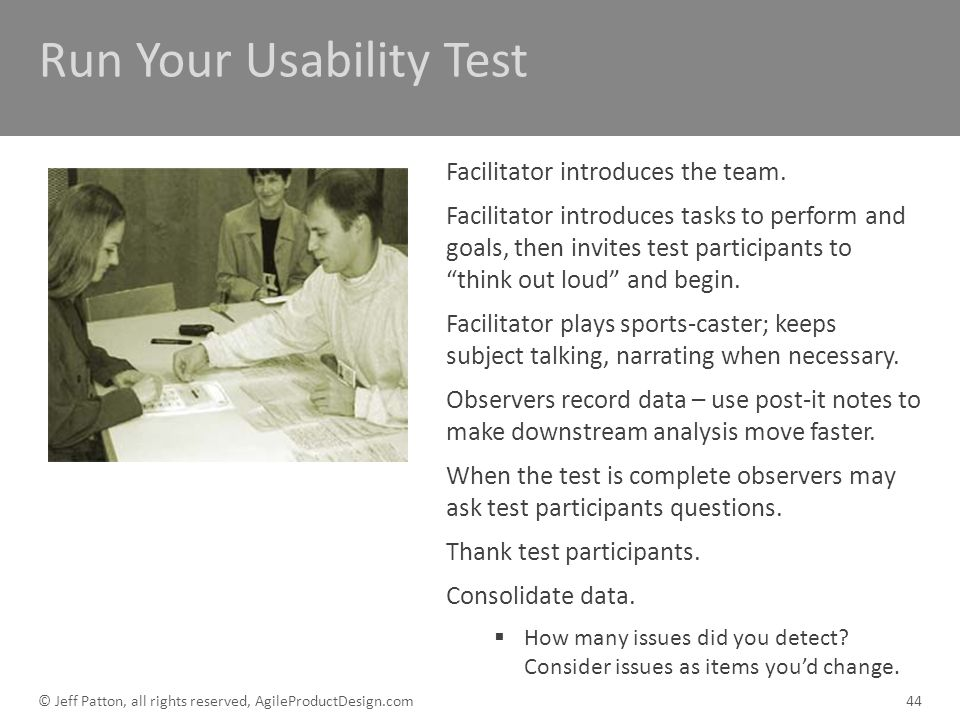 Run Your Usability Test