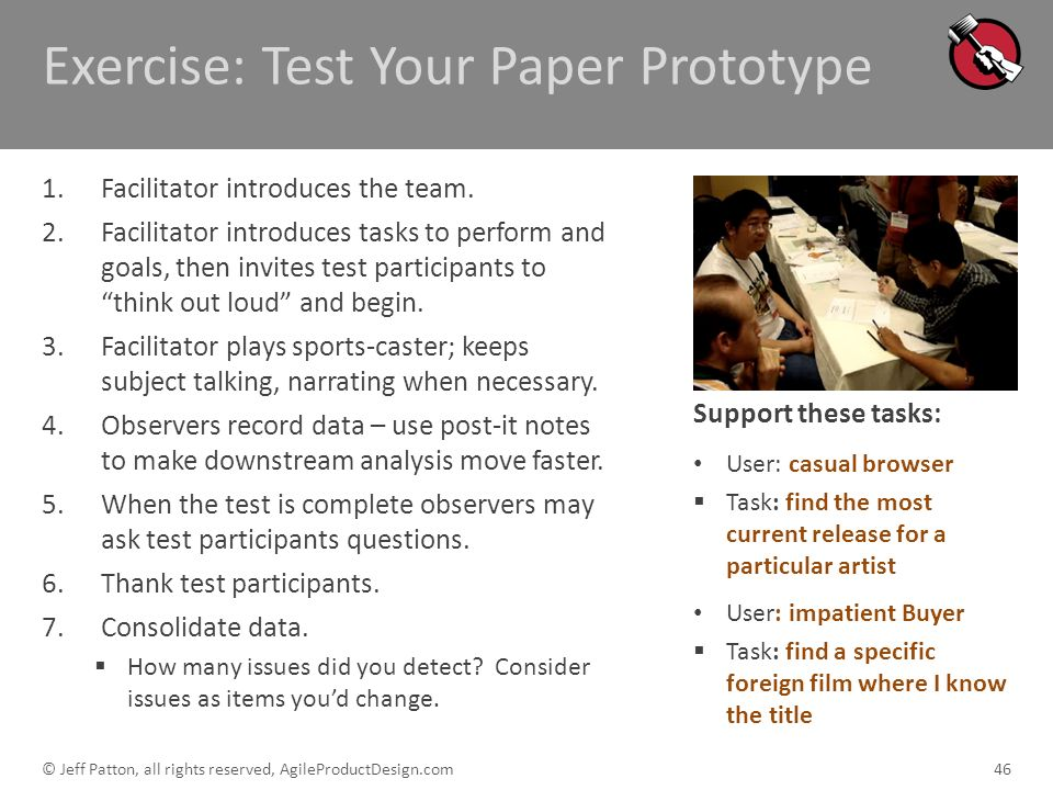 Exercise: Test Your Paper Prototype