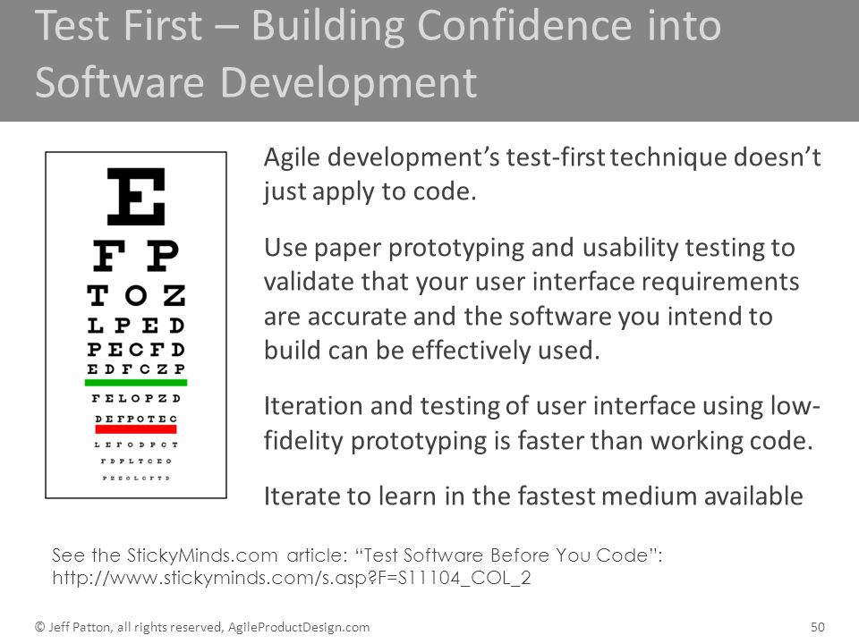 Test First – Building Confidence into Software Development