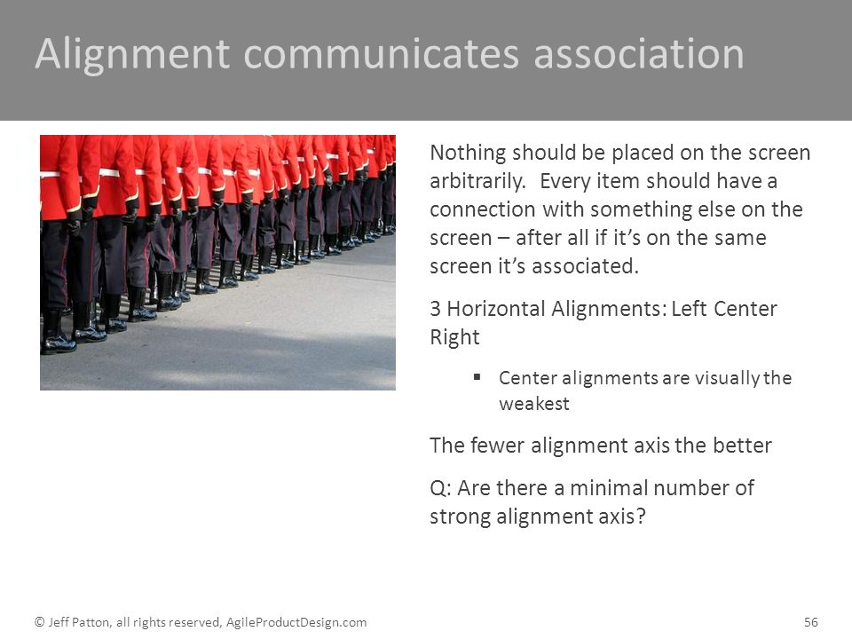 Alignment communicates association