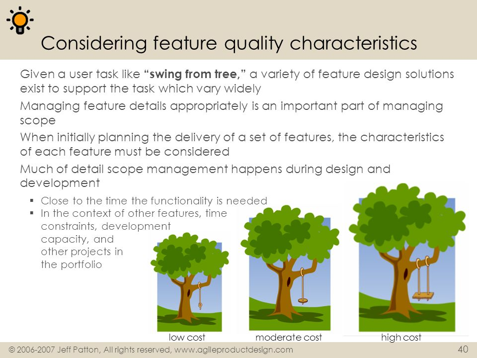 Considering feature quality characteristics