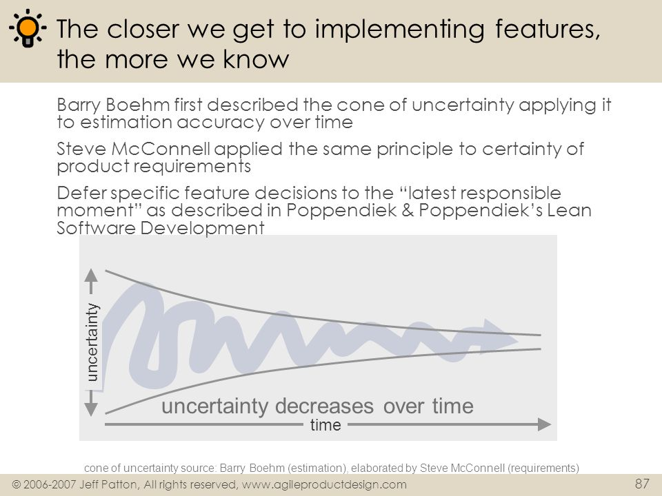 The closer we get to implementing features, the more we know