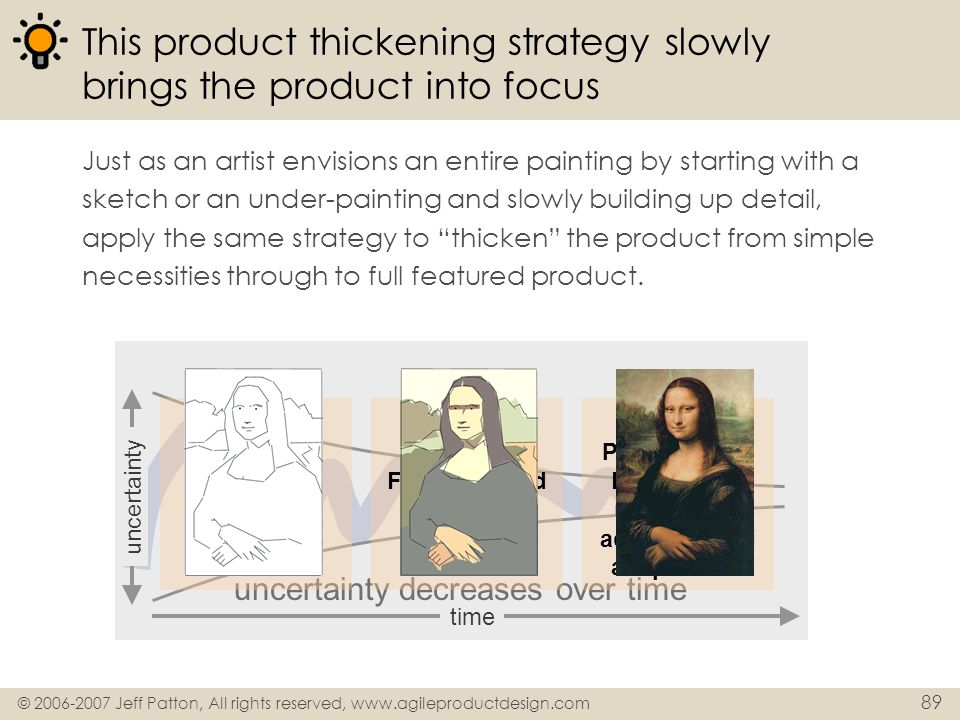 This product thickening strategy slowly brings the product into focus