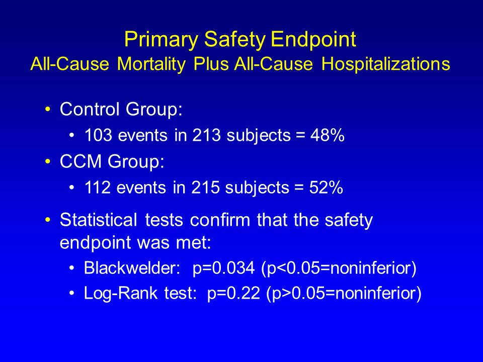 Primary Safety Endpoint