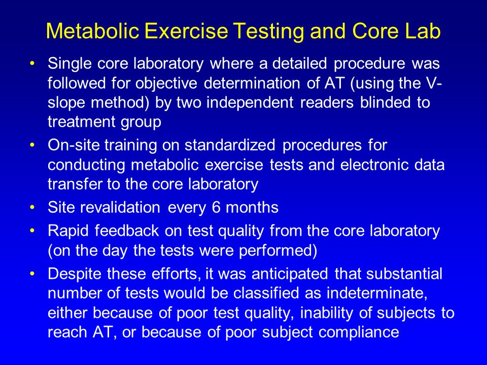 Metabolic Exercise Testing and Core Lab