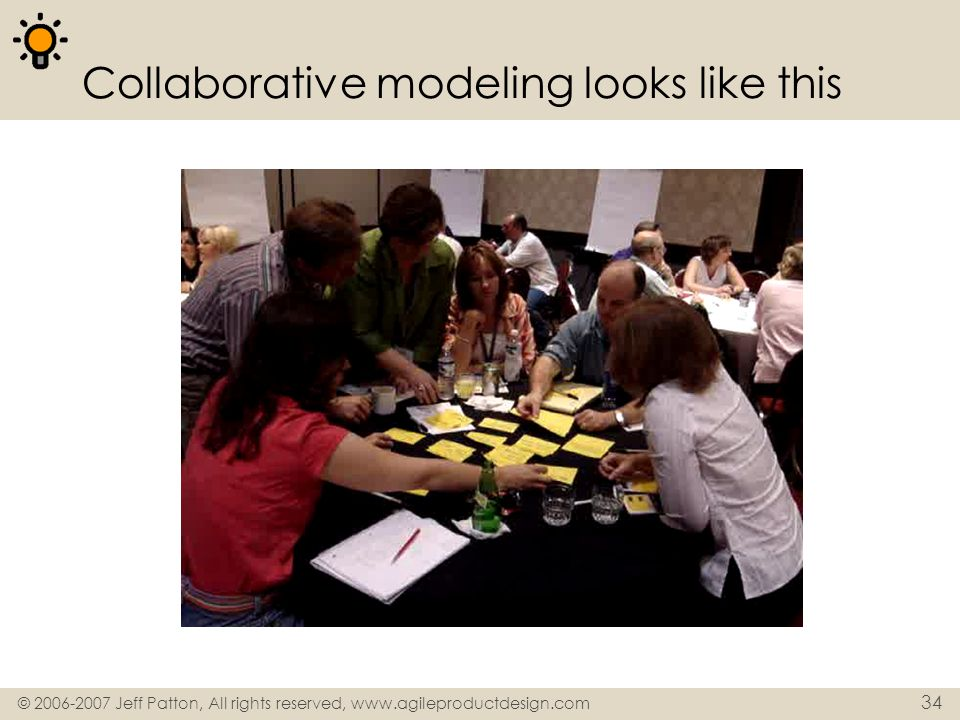 Collaborative modeling looks like this