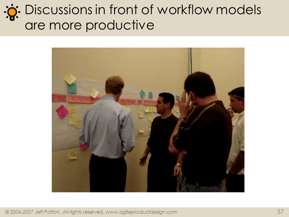Discussions in front of workflow models are more productive