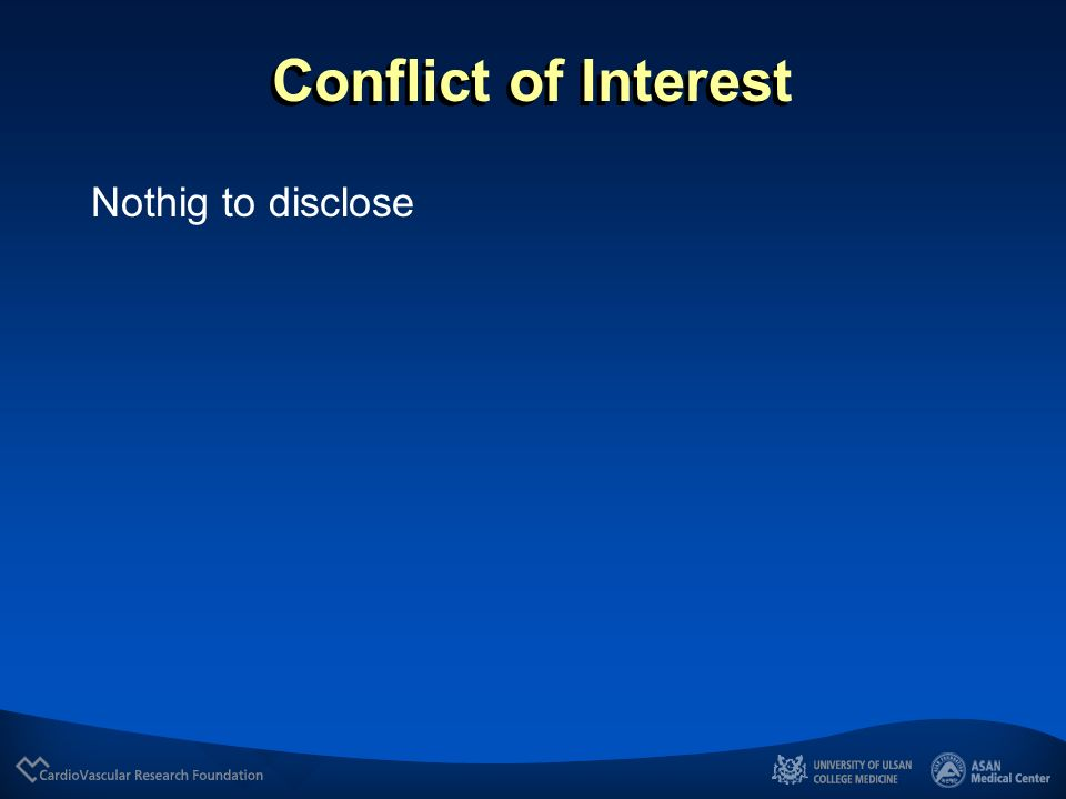 Conflict of Interest Nothig to disclose