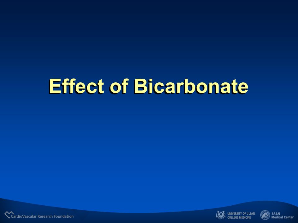 Effect of Bicarbonate