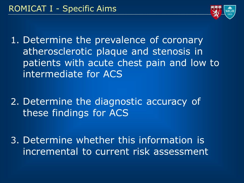 Determine the diagnostic accuracy of these findings for ACS