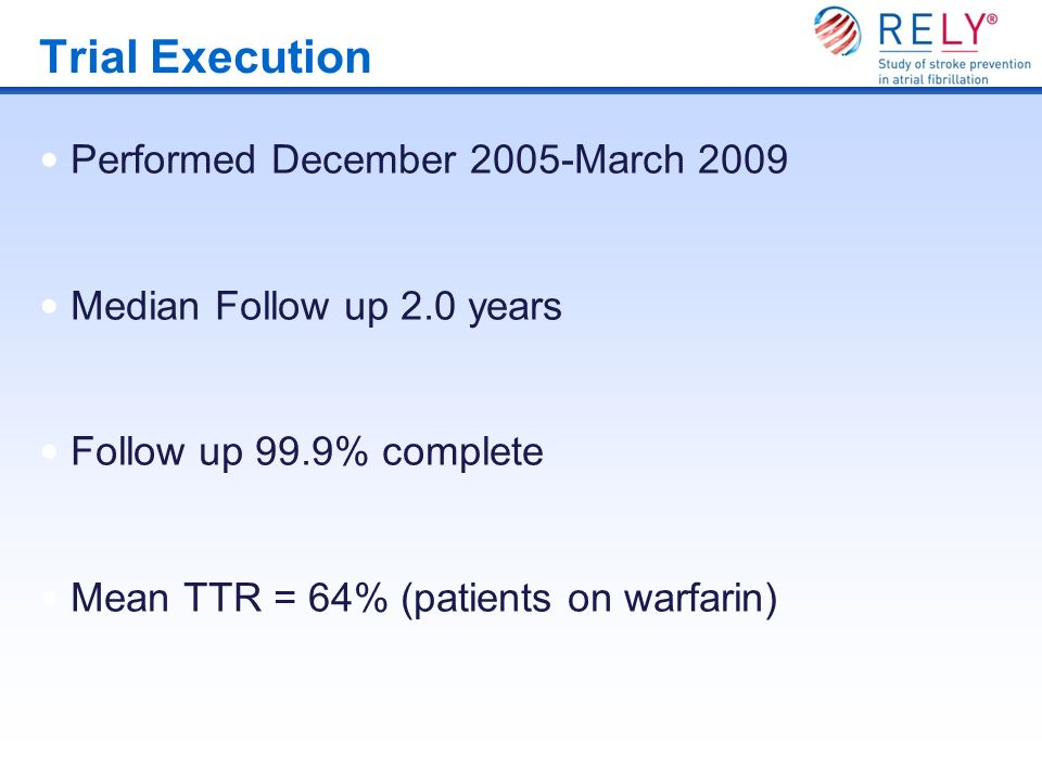 Trial Execution Performed December 2005-March 2009