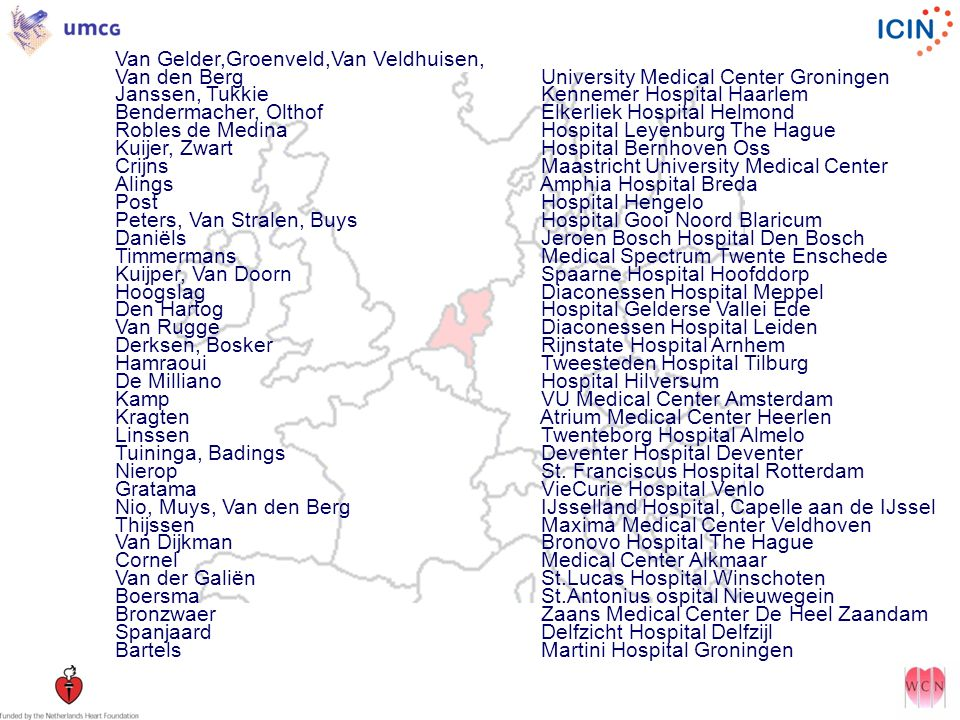 Van Gelder,Groenveld,Van Veldhuisen,