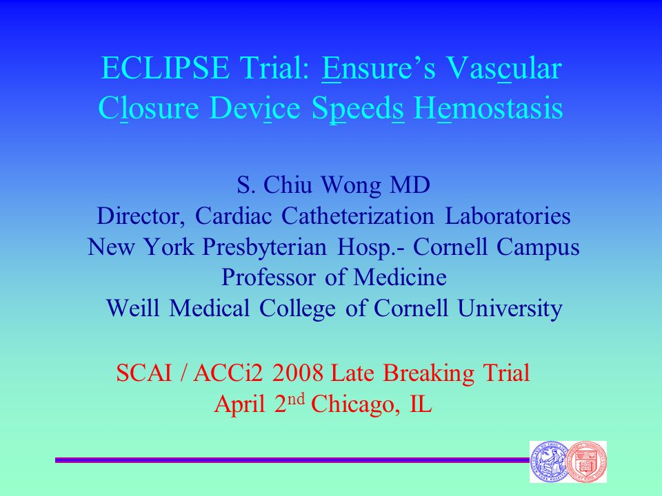 ECLIPSE Trial: Ensure's Vascular Closure Device Speeds Hemostasis
