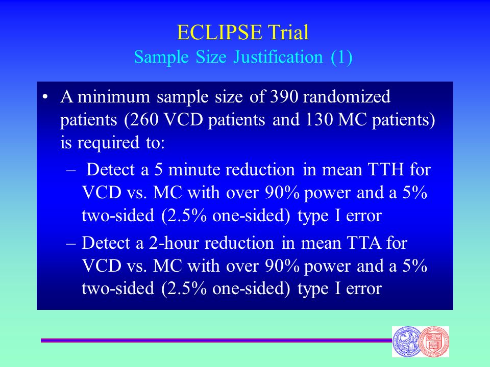 ECLIPSE Trial Sample Size Justification (1)