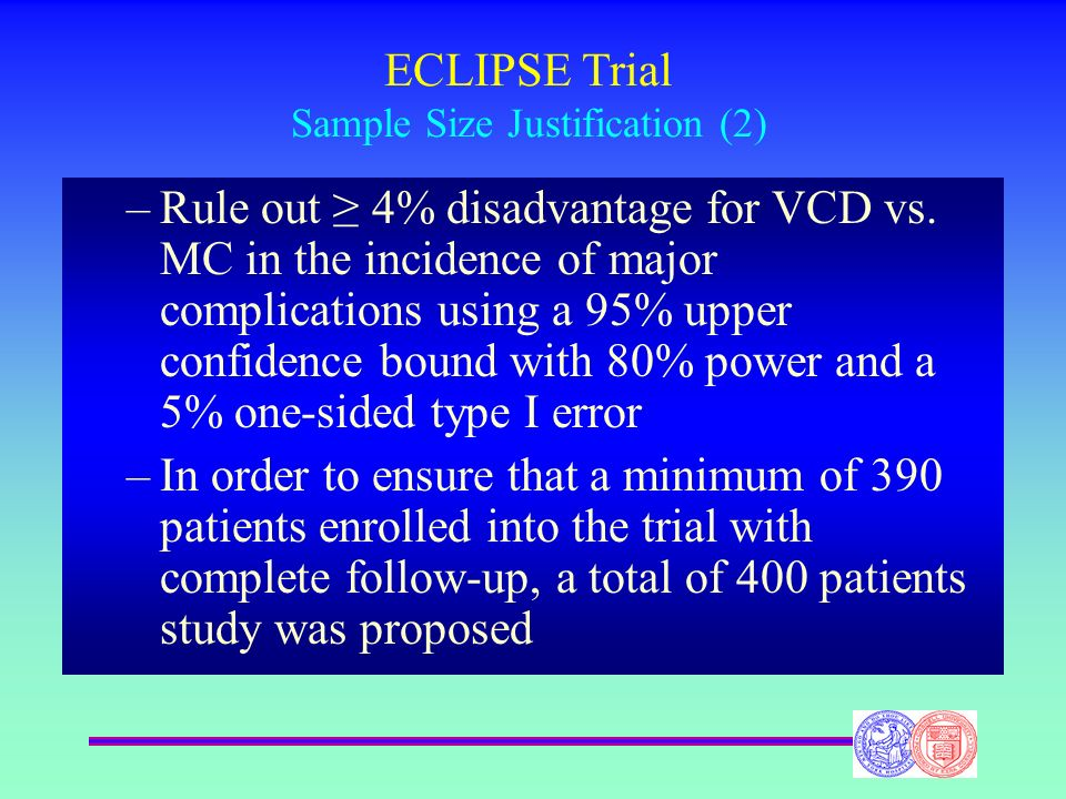 ECLIPSE Trial Sample Size Justification (2)