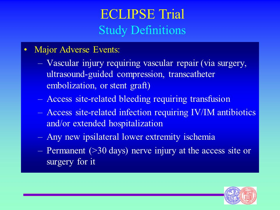 ECLIPSE Trial Study Definitions