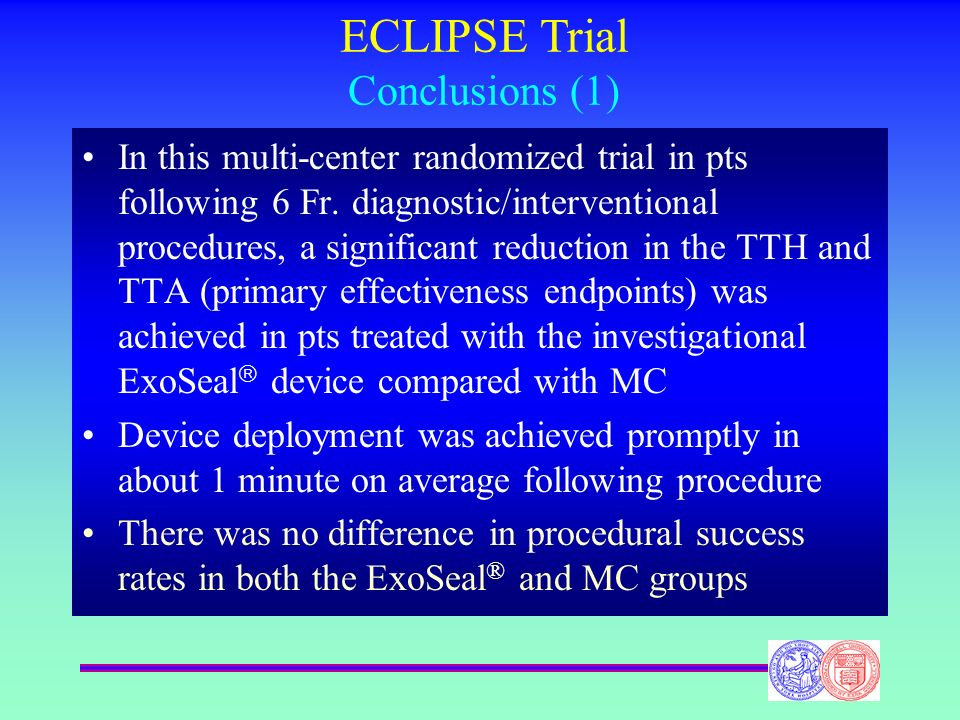 ECLIPSE Trial Conclusions (1)