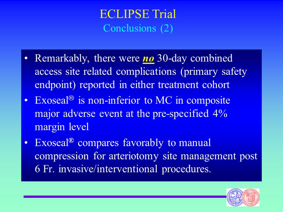 ECLIPSE Trial Conclusions (2)