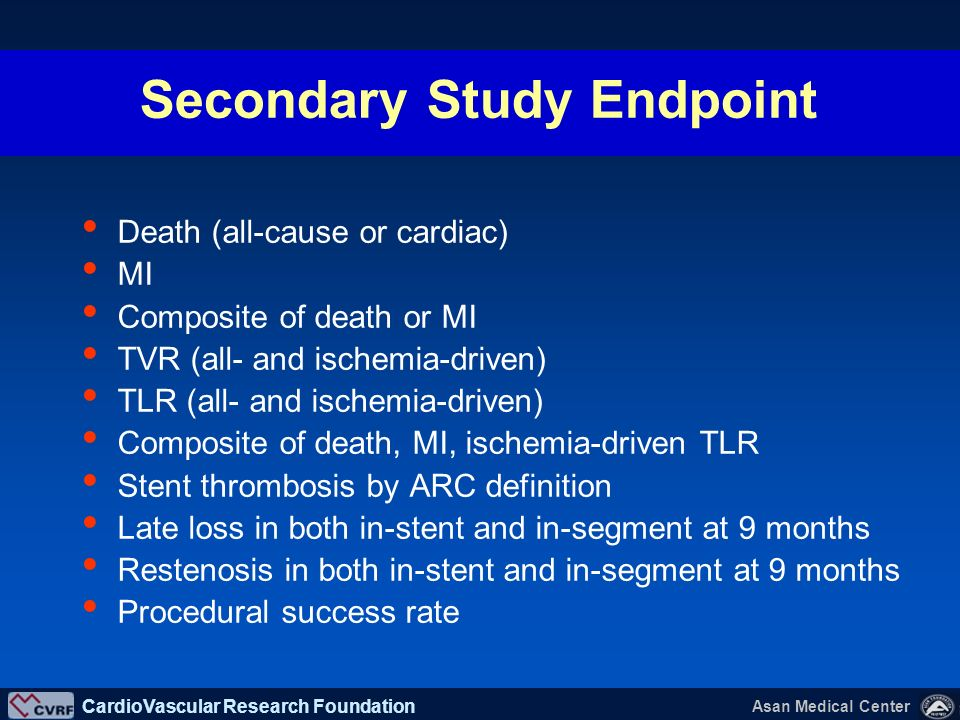 Secondary Study Endpoint