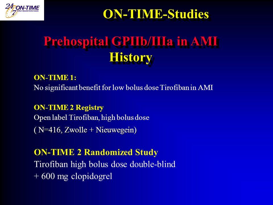 Prehospital GPIIb/IIIa in AMI History