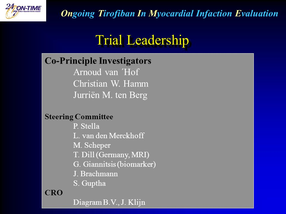 Ongoing Tirofiban In Myocardial Infaction Evaluation