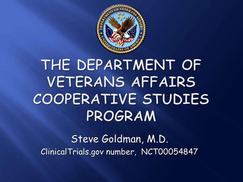 + The Department of Veterans Affairs Cooperative Studies Program