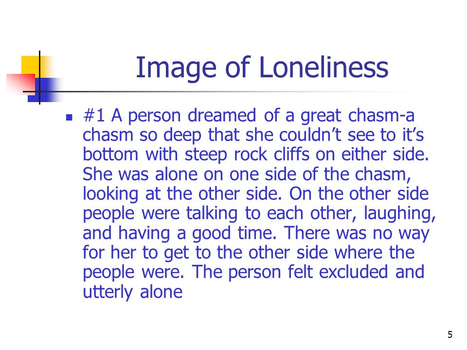 Image of Loneliness