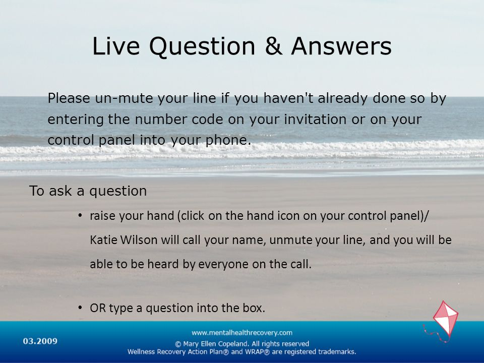 Live Question & Answers