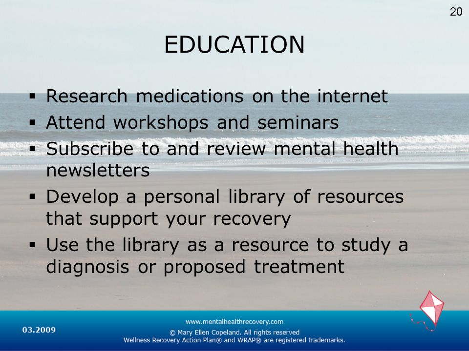 EDUCATION Research medications on the internet