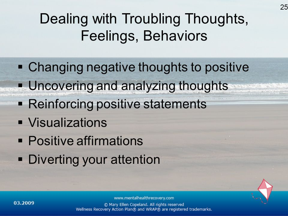Dealing with Troubling Thoughts, Feelings, Behaviors