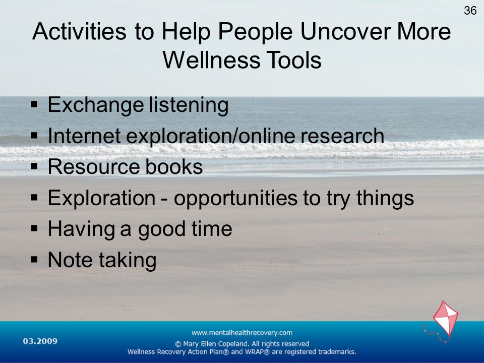 Activities to Help People Uncover More Wellness Tools
