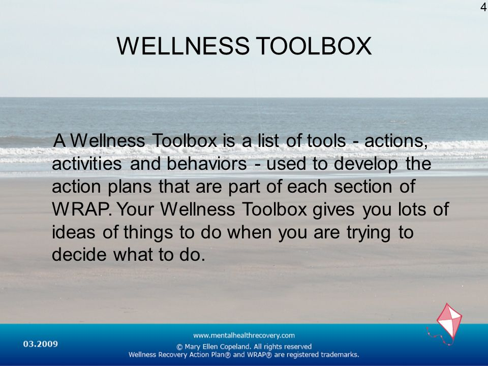 4 WELLNESS TOOLBOX.
