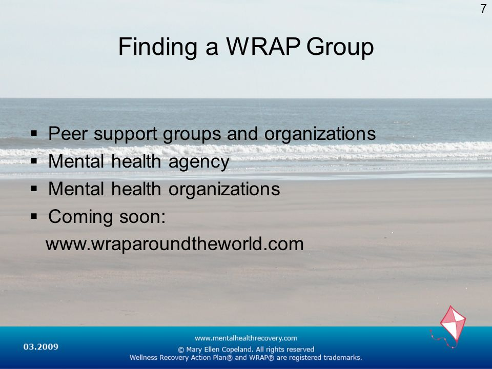 Finding a WRAP Group Peer support groups and organizations