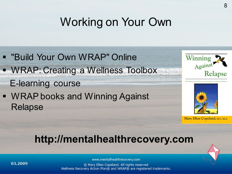 Working on Your Own http://mentalhealthrecovery.com