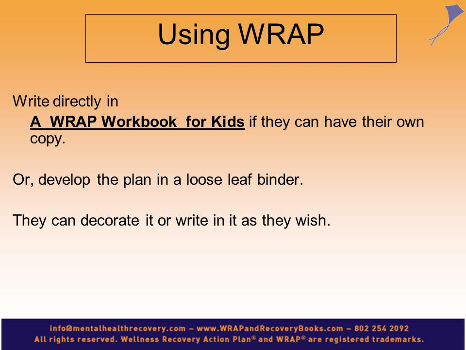 Using WRAP Write directly in
