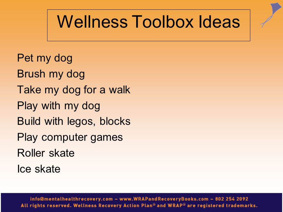 Wellness Toolbox Ideas