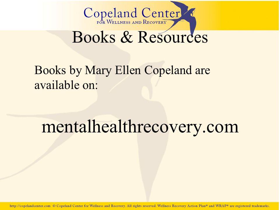 mentalhealthrecovery.com Books & Resources
