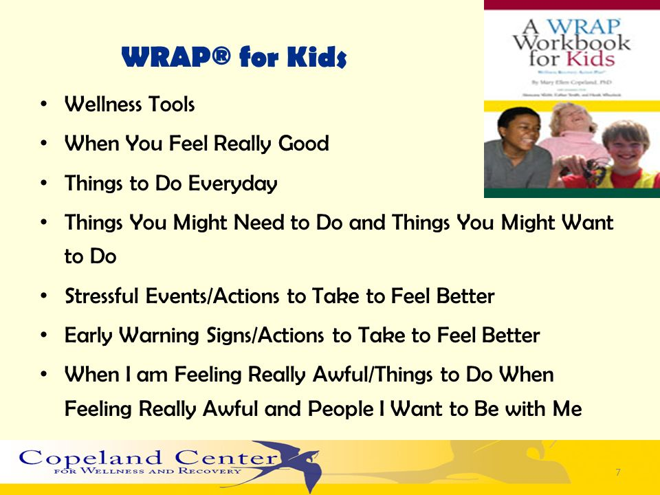 WRAP® for Kids Wellness Tools When You Feel Really Good