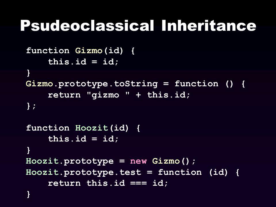 Psudeoclassical Inheritance
