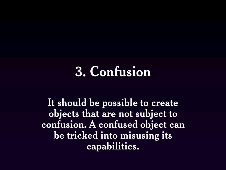 3. Confusion