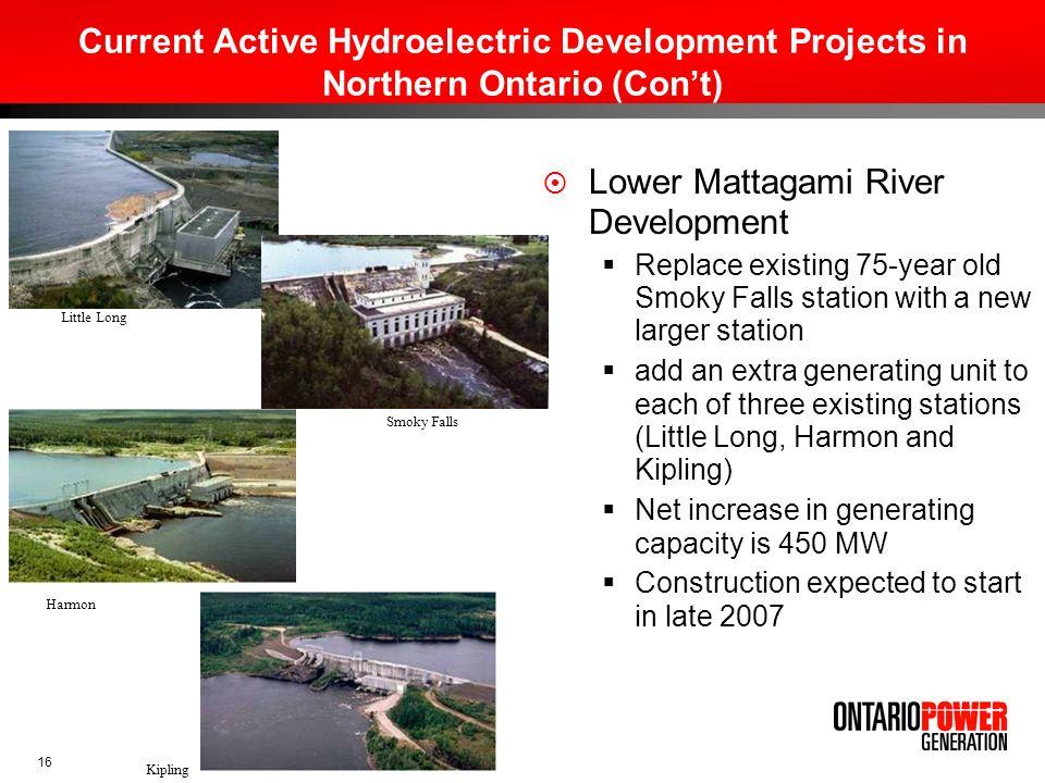 Lower Mattagami River Development