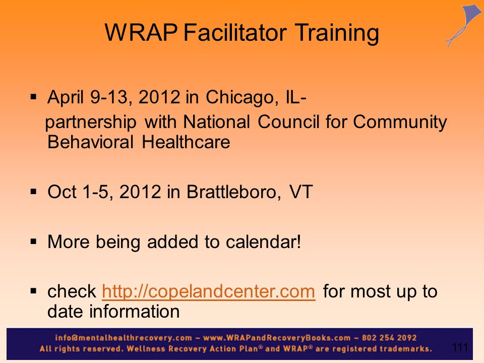 WRAP Facilitator Training