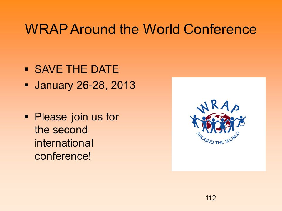 WRAP Around the World Conference