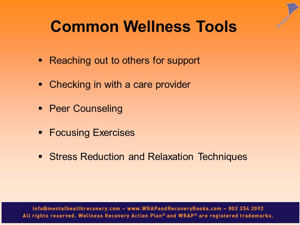 Common Wellness Tools Reaching out to others for support