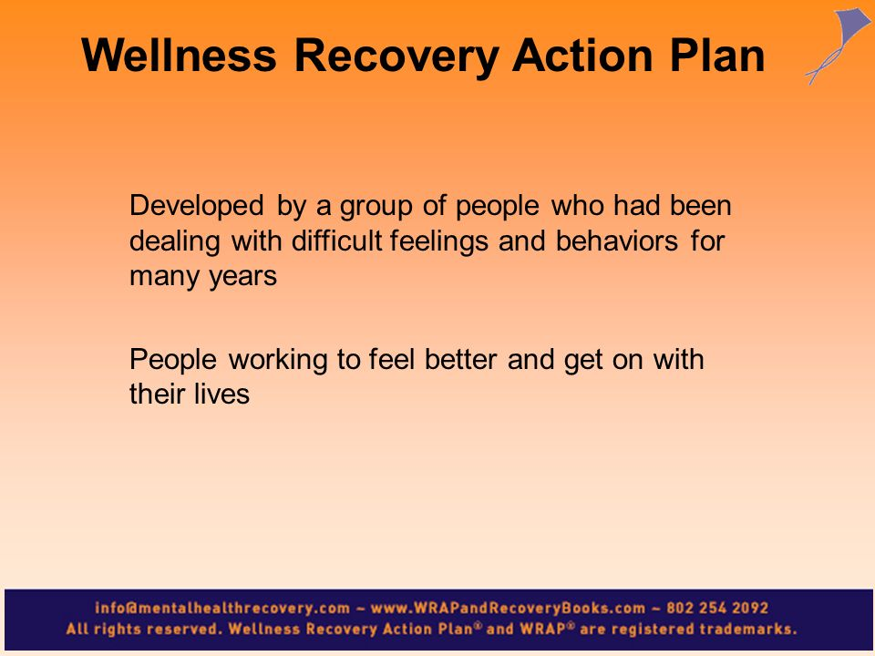 Wellness Recovery Action Plan