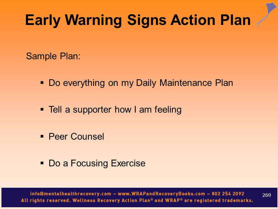 Early Warning Signs Action Plan