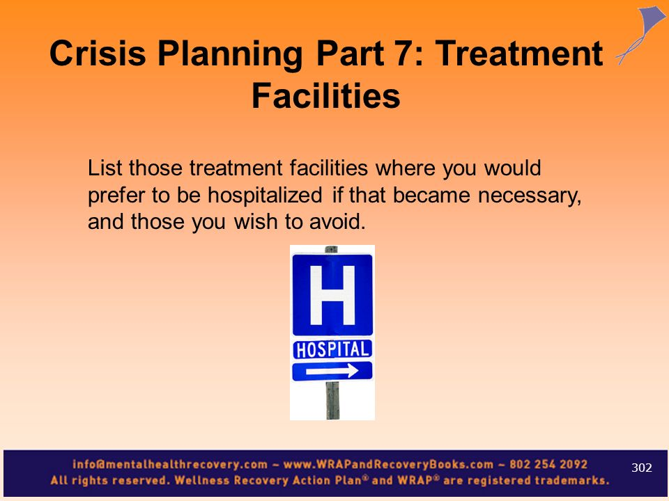 Crisis Planning Part 7: Treatment Facilities